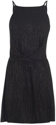 Biba Metallic Stripe Playsuit