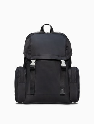 Calvin Klein Nylon Large Flap Backpack