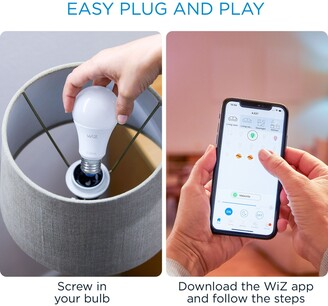 WIZ 8W A60 ES LED Smart Tunable White Dimmable Bulb with Wi-Fi, Set of 2