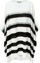 Tsumori Chisato crocheted stripe sweater - women - Silk/Cotton/Lyocell - 2