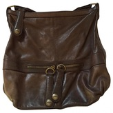 Gerard Darel Brown Leather Handbag Midday Midnight