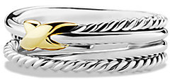 David Yurman X Crossover Ring with Gold
