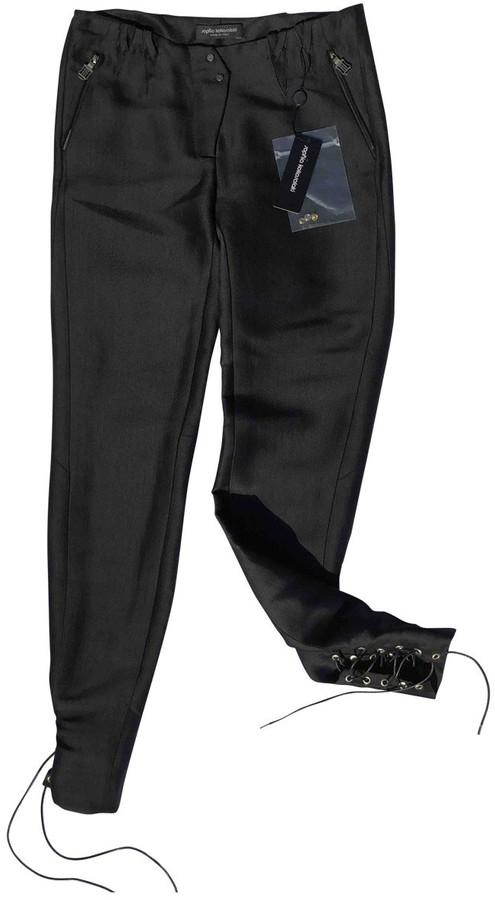 Sophia Kokosalaki Black Silk Trousers for Women