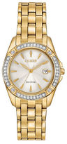 Citizen Goldtone Stainless Steel and Crystal Watch