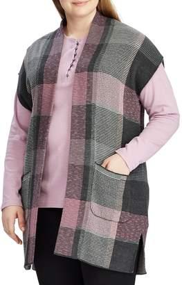Chaps Plus Plaid Sweater Vest