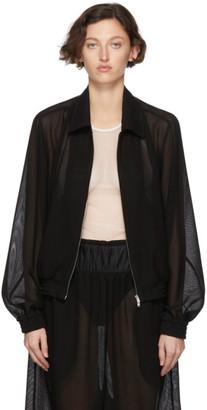 Random Identities Black Mesh Zip-Up Jacket
