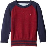 Tommy Hilfiger Daryl Raglan Crew Neck Sweater (Toddler/Little Kids)