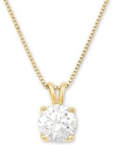 """Thumbnail for your product : Grown With Love Lab Grown Diamond Solitaire 18"""" Pendant Necklace (1 ct. t.w.) in 14k White Gold"""
