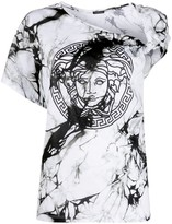 Versace Medusa marble-effect T-shirt
