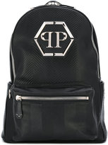 Philipp Plein chevron quilted backpack - men - Calf Leather - One Size