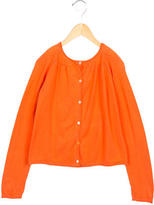 Bonpoint Girls Long Sleeve Button-Up Cardigan