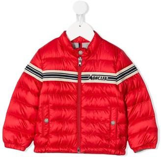 Moncler Enfant Logo Strip Puffer Jacket