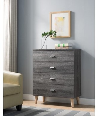 Grosso 4 Drawer Chest Wrought Studio Color: Distressed Gray