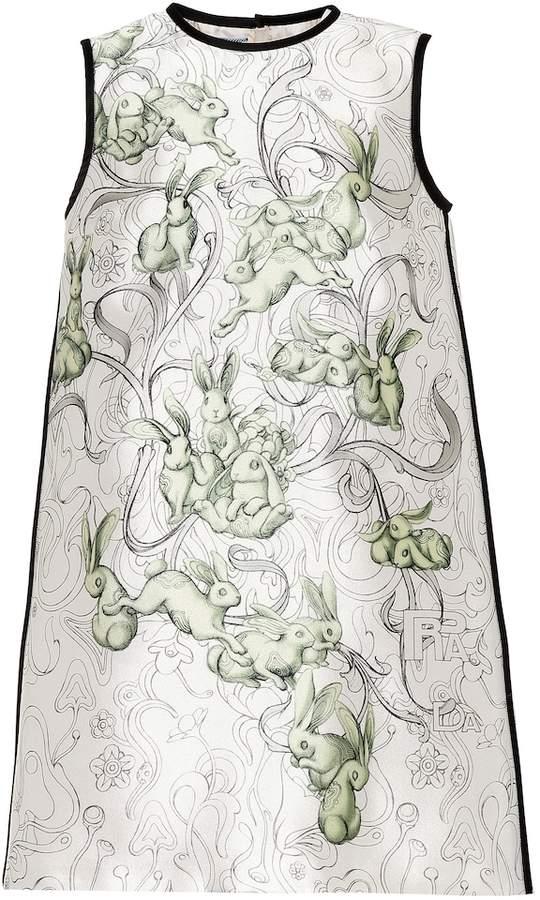 Prada Printed silk-blend dress
