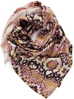 Nordstrom Washed Reptile Print Square Silk Scarf