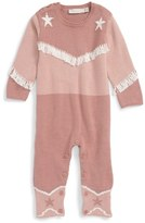 Stella McCartney 'Rodeo' Sweater Knit Cotton & Cashmere Romper (Baby Girls)