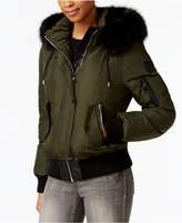 Vince Camuto Faux-Fur-Trim Down Bomber Coat