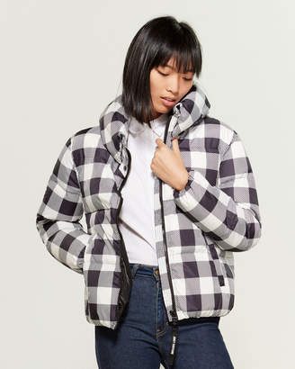 Juicy Couture Checkerboard Puffer Coat