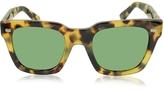 Gucci GG 1099/S 00FDJ Havana Acetate Square Frame Sunglasses