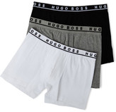 HUGO BOSS 3 Pack Cotton Stretch Cyclist Trunk (Longer Leg)