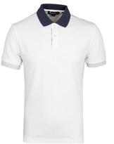 Aquascutum White Timbs Contrast Pique Short Sleeve Polo Shirt