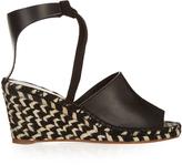 Proenza Schouler Striped-wedge leather espadrilles