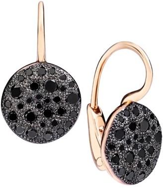 Pomellato Sabbia Black Diamond & 18K Rose Gold Drop Earrings