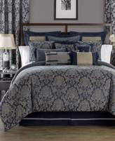 Waterford Sinclair Indigo Reversible Queen Comforter Set