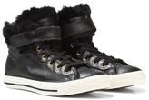 Converse Black Faux Fur-Lined Chuck Taylor All Star Brea Hi-Tops