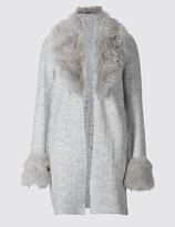 Per Una Open Front Fur Coatigan