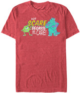 Fifth Sun Men's Tee Shirts RED - Monsters, Inc. Mike & Sully 'Because We Care' Tee - Men