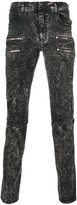 Faith Connexion bleached effect zipped skinny jeans