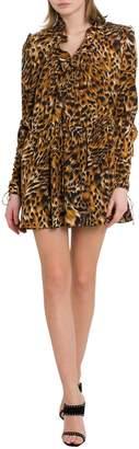 Saint Laurent Leopard Mini Dress