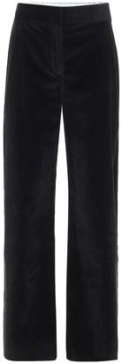 The Row Caylan high-rise straight corduroy pants