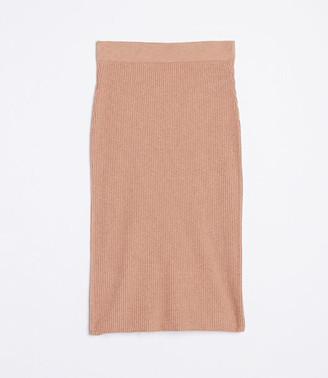 LOFT Ribbed Sweater Skirt
