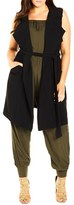 City Chic Plus Size Women's Sleeveless Trench Coat