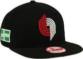 New Era Portland Trail Blazers Flag Stated 9FIFTY Snapback Cap