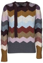 Marc Jacobs Cashmere Chevron Intarsia Sweater
