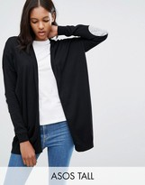 ASOS Tall ASOS TALL Swing Cardigan with Gray Oval Elbow Patch