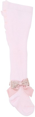 La Perla Cotton Knit Tights W/ Bow