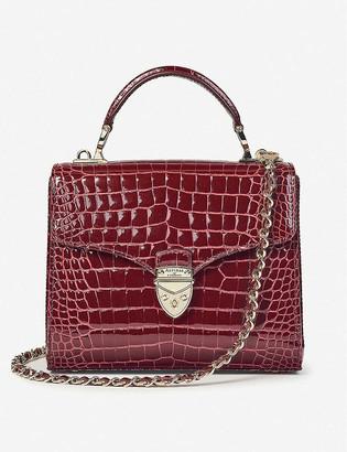 Aspinal of London Mayfair midi crocodile-embossed leather bag