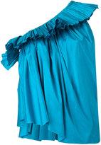 Marques Almeida Marques'almeida - pleated one-shoulder top - women - Silk - XS