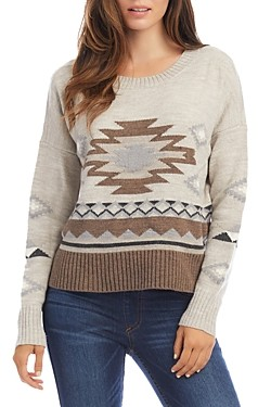 Karen Kane Printed Crewneck Sweater