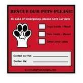 Pet Emergency Rescue Window Cling - Set of 4 by Big Paw Designs