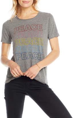 Chaser Peace Rainbow Heathered Short-Sleeve Tee