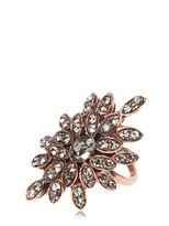 Ca&Lou Plated Brass Leaves Flower Ring