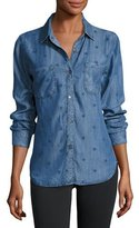Rails Carter Denim Star-Print Shirt, Indigo