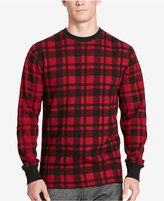 Polo Ralph Lauren Men's Big & Tall Plaid Waffle-Knit Crew-Neck Thermal Top