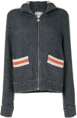 Chanel Pre Owned 2007 Sports knitted zipped jacket