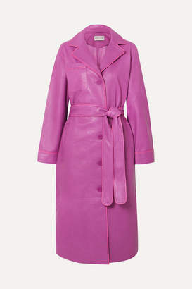 Stand Studio - Leather Trench Coat - Pink